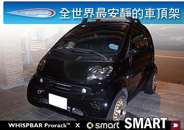 SMART 專用 WHISPBAR 車頂架